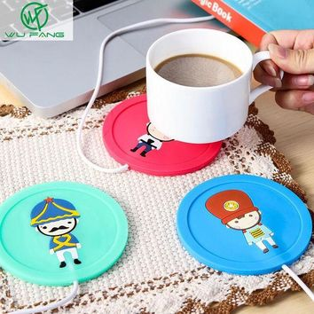 DCCKL72 Cartoon creative silicone electric Insulation coaster USB warm cup heating device Office Coffee Tea Warmer Pad Mat