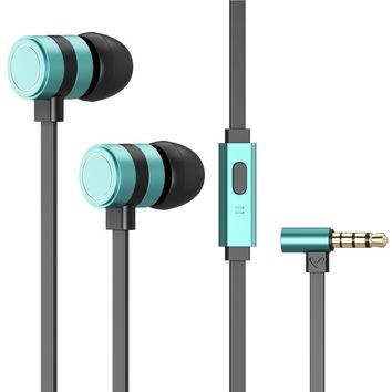 Besiva In-Ear Earbuds Earphones with microphone Noise cancelling Headphones , Compatible with IPhone/Android(Green)
