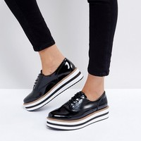 Monki Stripe Sole Brogue at asos.com