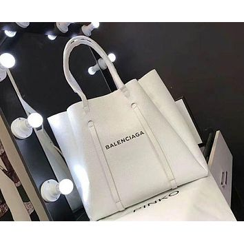 """Balenciaga"" Stylish New Women Shopping Bag Personality Leather Handbag Bag Shoulder Bag"