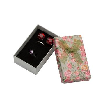4pcs/lot Flower Floral Necklace Earrings Ring Box 5*8cm Jewelry Box Paper Jewelry Gift Box Multi Colors Jewellery Organizer