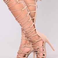 Candace Cage Heel - Taupe