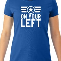 "Captain America ""On Your Left"" Women's Tee"
