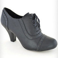 Coal Mill Lace-Up Oxford Heels