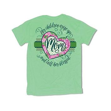 Sweet Thing Blessed Mom Mother Mama Heart Mint Girlie Bright T-Shirt