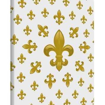 Gold Fleur De Lis AOP Printed Canvas Art Portrait - Choose Size by TooLoud