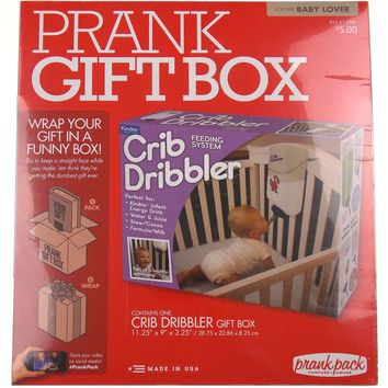 Prank Gift Box Baby Crib Dribbler Feeding System Wrap Your Gift In A Funny Box
