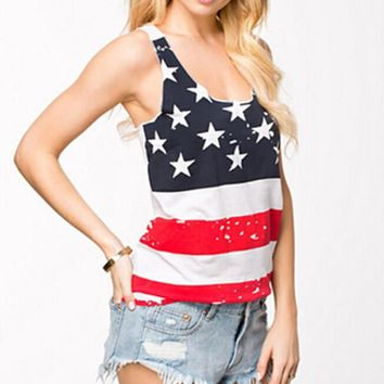 womens american flag tank top unique vest sleeveless t shirts gift 96  number 1