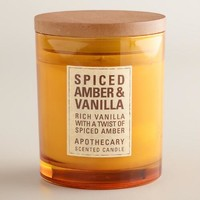 Amber and Vanilla Apothecary Candle - World Market