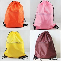 "2014 new candy color 19""x15"" String Bags Drawstring Backpack Tote School Bag Bookbags Sport Pack SXC04 = 1958558212"