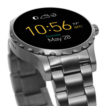 Q Marshal Touchscreen Smoke Stainless Steel Smartwatch - $315.00