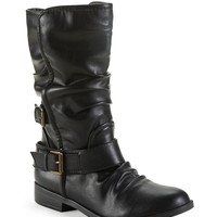 Double Buckle Moto Boot - Aeropostale