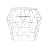 White Metal Drum Stool | Overstock.com Shopping - The Best Deals on Coffee, Sofa & End Tables
