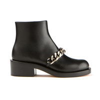 Givenchy chain-trimmed black leather Laura ankle boots