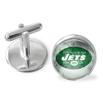 New York Jets cuff links, Jets accessories, NY Jets , men's , NFL, sporty gift, gifts for guys, Father's Day gifts under $25