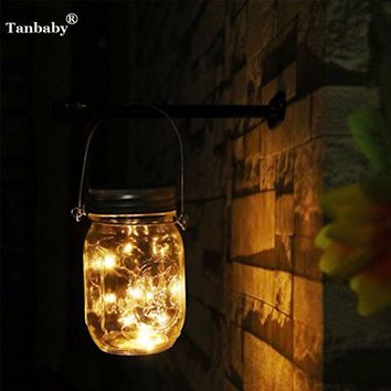 Tanbaby Solar Light Mason Jar Lids Insert Color Changing Fairy Light Garden Decoration Glass Bottle Christmas Party LED String