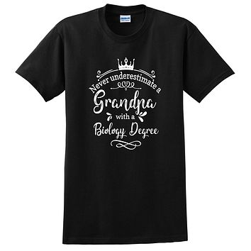 Never underestimate a grandpa with a biology degree T Shirt
