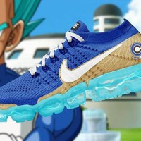 "Dragon Ball Z x Nike Air VaporMax Flyknit Running Shoes Sneaker ""Super Blue""AA3858-103"