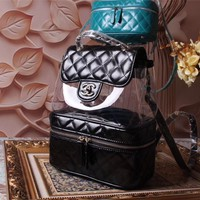 CHANEL WOMEN'S PVC AND LEATHER BACKPACK BAG