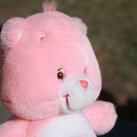 Pink Carebear Rainbow Stuffed Plush Toy Animal