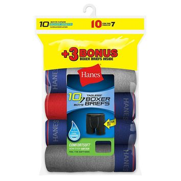 Hanes Boys Boxer Brief Bonus Pack P7+3