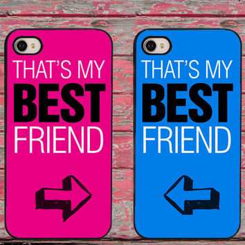 BFF Best Friends Twin Set Pink and Blue Phone Cases for iPhone 6 6 plus 5c 5s 5 4 4s