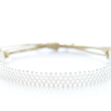 SKINNIES Silver Cord Bracelet for men and women