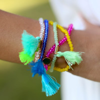Mix Em Up Tassel Bracelets