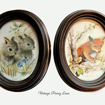 John Edwards Nature / Animal Art Prints, Vintage Wall Hangings