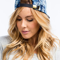 Denim Daze Floral Print Hat