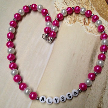 Children's Personalized Name necklace with matching bracelet