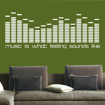 Wall Decal Vinyl Sticker Decals Art Decor Design Sign Quote Letter Music Equalizer Electro House Rock  Mans Kids Gift Bedroom Dorm (r744)