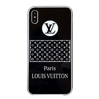 LV tide brand mirror all-inclusive anti-drop iphone7plus protective cover black