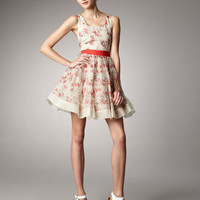 RED Valentino Tie-Back Dance Dress - Bergdorf Goodman