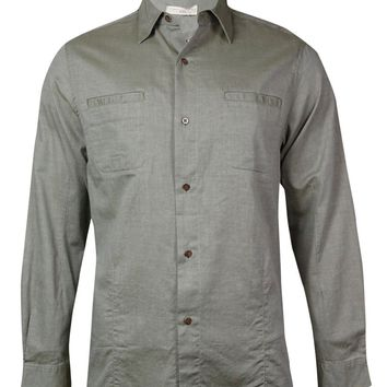 Comstock & Co. Men's Long Sleeves Twill Button-Down Shirt