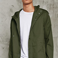 Hooded Cotton Drawstring Jacket