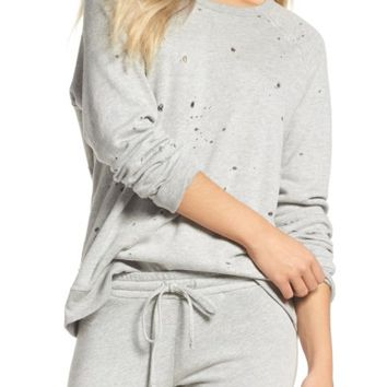 Michael Lauren Destroyed Lounge Sweatshirt | Nordstrom