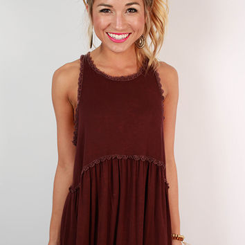 Fashion Queen Tank Top in Maroon