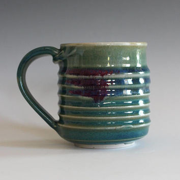 Pottery Mug, 11 oz, unique coffee mug, handmade cup, handthrown mug, stoneware mug, wheel thrown pottery mug, ceramics and pottery
