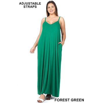 Curvy/Plus V-Neck Maxi Dress