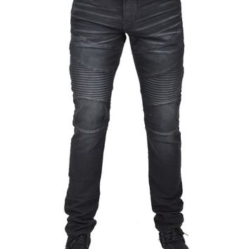 TRUE RELIGIONROCCO ACTIVE MOTO JEANS - BLACK 1001