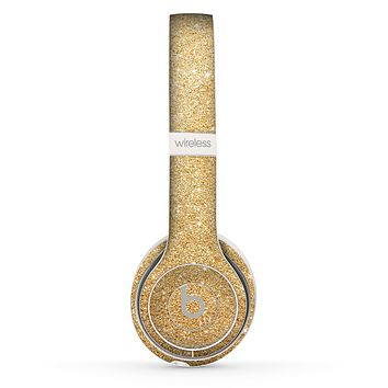 The Gold Glitter Ultra Metallic Skin Set for the Beats by Dre Solo 2 Wireless Headphones