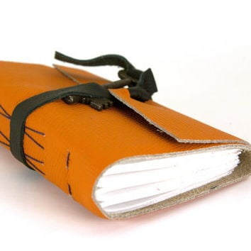 Key Leather Journal in Orange (sm)