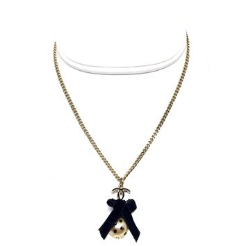 Chanel Ribbon Ball Necklace