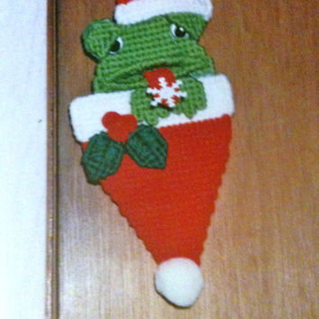 Frog Ornament Needlepoint Plastic Canvas