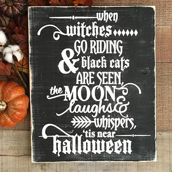 Halloween Sign,Scary Halloween Decor,Halloween Yard Decor,Haunted House,Spooky Sign,Halloween Party Decor,Halloween Porch Decor,Witches