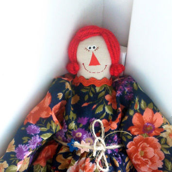 Doll Raggedy Ann Textile doll Interior doll Primitive doll