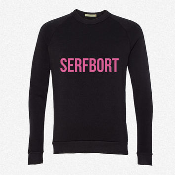 SERFBORT fleece crewneck sweatshirt