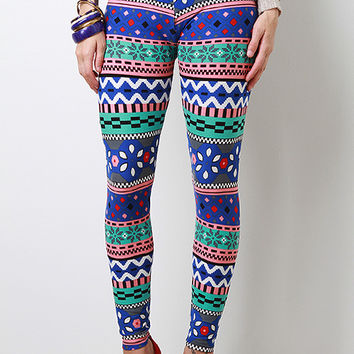 Winter Dazzle High Waisted Pants