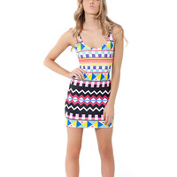 Women's Sexy Colorful Print Sundress One Piece Bodycon Dress